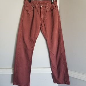 Levi's Jeans - Levi's 32 wine colored red straight leg Jean pants